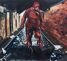 Man Without Fear - Red by Luke Tomlinson