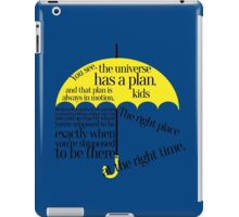 The right place at the right time iPad Case/Skin