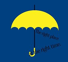 Yellow umbrella by Charenne