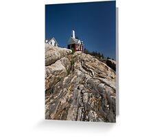 A Cloudless Day at Pemaquid Light House Greeting Card