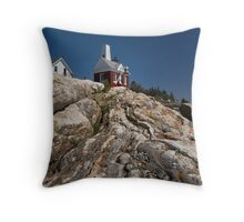 A Cloudless Day at Pemaquid Light House Throw Pillow
