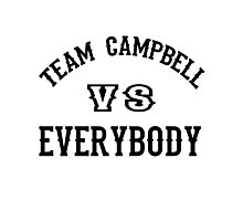 Team Campbell Photographic Print
