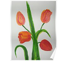 Just Tulips Poster