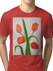 Just Tulips Tri-blend T-Shirt