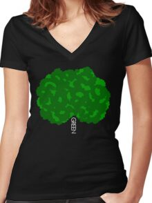 GOING GREEN TREE Women's Fitted V-Neck T-Shirt