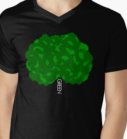GOING GREEN TREE Mens V-Neck T-Shirt
