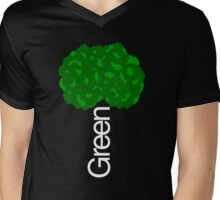 Green Tree II Mens V-Neck T-Shirt