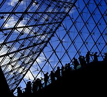 Lines and Sky of the Louvre by Murray Newham