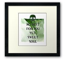 No Rest Framed Print
