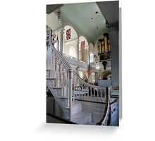 Inside Old North Church Greeting Card