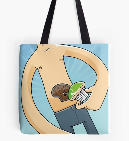 My Stomach has a Cupcake-sized Door Tote Bag