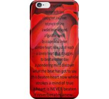 A Beating Heart Lay Resting - Greeting Card iPhone Case/Skin