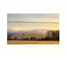 View from Broadway Tower, Worcestershire Art Print