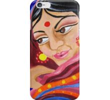 Hindu Woman Acrylic Painting iPhone Case/Skin