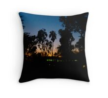 Offices on the Lagoon - Silhoutte 01 Throw Pillow