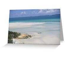 whitehaven beach Greeting Card