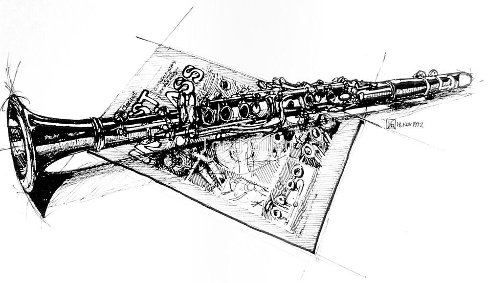 Clarinet Study by Tony Gillan