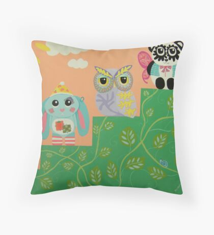 Friends At Every Step Of The Way Throw Pillow