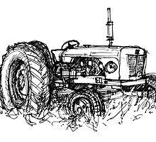 David Brown Tractor by Tony Gillan