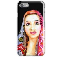 Indian Girl Portrait Painting iPhone Case/Skin