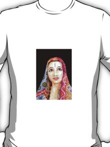 Indian Girl Portrait Painting T-Shirt