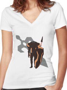 Kellam - Sunset Shores Women's Fitted V-Neck T-Shirt