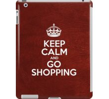 Keep Calm and Go Shopping - Glossy Red Leather iPad Case/Skin