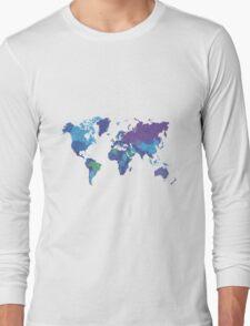 World Map Colourful Long Sleeve T-Shirt