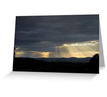 golden rays of light Greeting Card