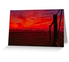 """Red Dawn at Shelford"" Greeting Card"