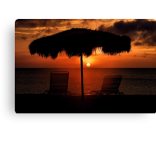 Eagle Beach Sunset Canvas Print