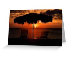 Eagle Beach Sunset Greeting Card