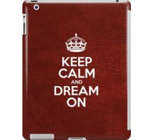 Keep Calm and Dream On - Glossy Red Leather iPad Case/Skin