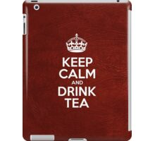 Keep Calm and Drink Tea - Glossy Red Leather iPad Case/Skin