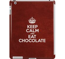 Keep Calm and Eat Chocolate - Glossy Red Leather iPad Case/Skin