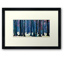 A Gathering of Trees Framed Print