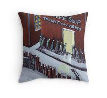 Free soup Throw Pillow