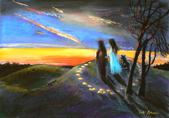 Collaboration with Redbubble Author, Enivea .....Dancing in the Dawn by Virginia McGowan