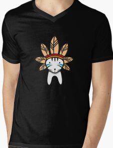 Mohawk Cat Mens V-Neck T-Shirt