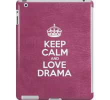 Keep Calm and Love Drama - Glossy Pink Leather iPad Case/Skin