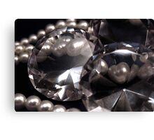 Diamonds 'n Pearls Canvas Print