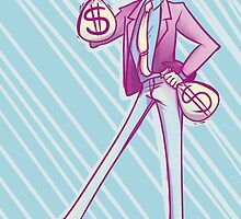 Lupin III Moneybags by mandyquesadilla