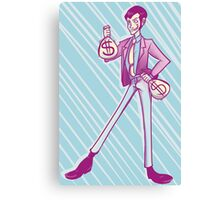 Lupin III Moneybags Canvas Print