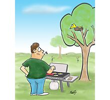 Barbecue Cartoon  Photographic Print