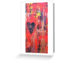 Burning Heart Greeting Card