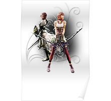 Final Fantasy XIII-2 - Lightning (Claire Farron) and Serah Farron Poster