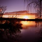 Mannum sunset by Steve Chapple