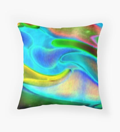 island sunrise (or) flying fruit stand Throw Pillow