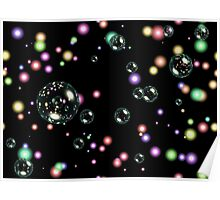Fireflies and Bubbles Poster