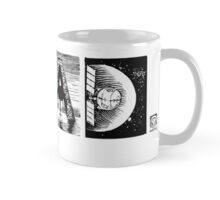 Read! Retro Science Fiction Rocket Alphabet Letter design Mug